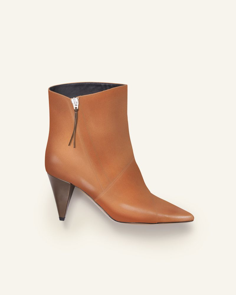 皮革踝靴 尖头设计 7.5cm 鞋跟 ISABEL MARANT
