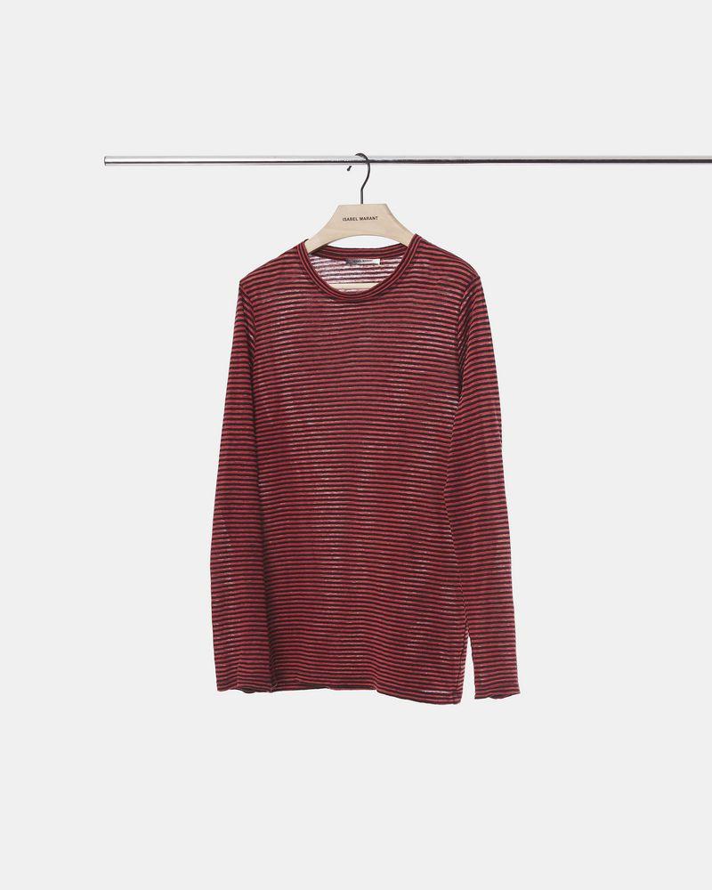 LEIGHTON 条纹 T 恤