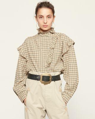 ISABEL MARANT ÉTOILE 衬衫与罩衫 女士 FLOSSIA 上衣 r