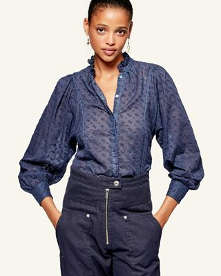 ISABEL MARANT ÉTOILE 衬衫与罩衫 女士 TERZALI上衣 r
