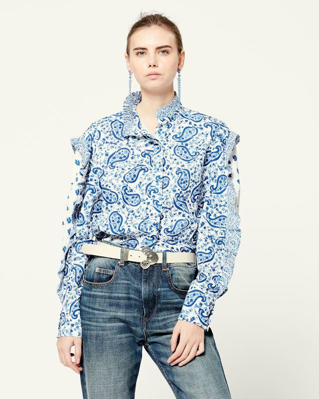 ISABEL MARANT ÉTOILE 衬衫与罩衫 女士 LINEYA 上衣 r