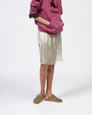 ISABEL MARANT ÉTOILE 中长款半裙 女士 DELPHINA 金属感半裙 r
