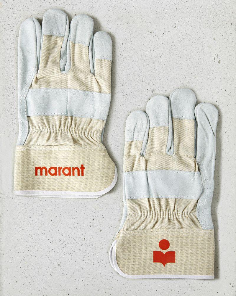 Marant 徽标手套 ISABEL MARANT