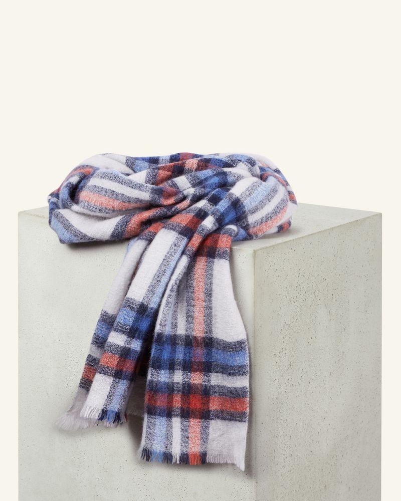 格纹羊毛围巾 尺寸:65 x 180 cm