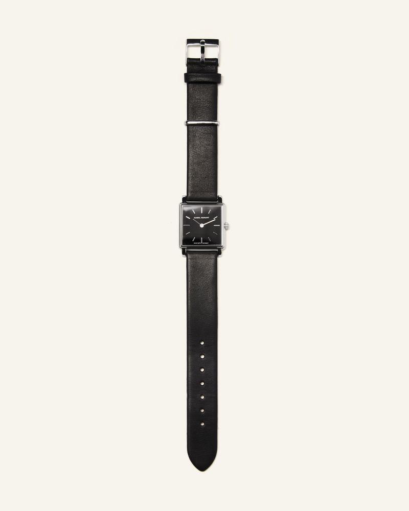 La Montre 不锈钢皮革腕表